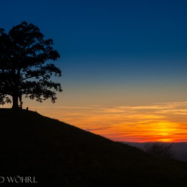 Sonnenuntergang auf dem Samerberg
